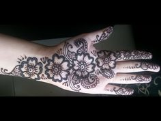 Simple Floral Henna - Arabic fusion style mehndi design video - YouTube