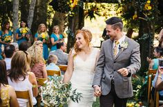 Congrats to the beautiful couple! See the whole wedding featured on http://greenweddingshoes.com/whimsical-california-morning-wedding-hailey-jonathan/