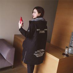2016 зимняя одежда новой корейской версии сыпучих с капюшоном набивочного пальто женщин длинный участок плюс толстые хлопок-ватник сплошной цвет с длинным рукавом ватника