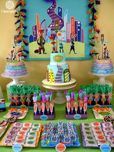Awesome Zootopia birthday birthday party! See more party ideas at CatchMyParty.com!