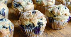 Bursting with blueberries, tender and sweet, this muffin batter will keep in the refrigerator for up to a week; bake them as needed.