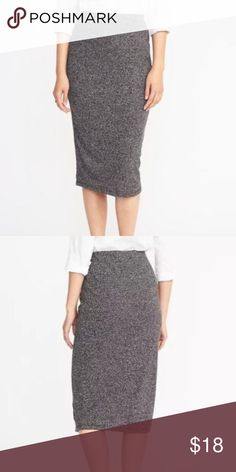 27bf5513a226 New Jersey-Knit Midi Pencil Skirt Fitted through hip and thigh. Pencil skirt  hits
