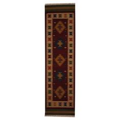 @Overstock - Indo Hand-woven Turkish Kilim Red/ Ivory Wool Rug (2'6 x 10') - With a distinctive style, a gorgeous area rug from India will add some splendor to any decor. This Kilim area rug is hand-knotted with a geometric pattern in shades of red, ivory, gold, blue, rust, and green.  http://www.overstock.com/Worldstock-Fair-Trade/Indo-Hand-woven-Turkish-Kilim-Red-Ivory-Wool-Rug-26-x-10/8824631/product.html?CID=214117 $188.99