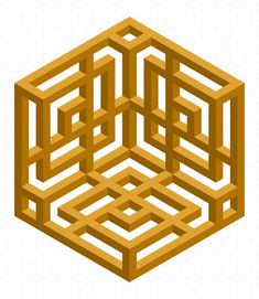 The Ritual Aura Cube  by Bucwah #impossible #isometric #geometry