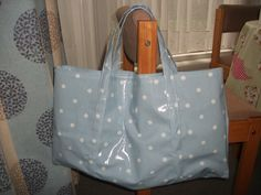 Big oilcloth beach bag! Next time I need to make it a little smaller, and add a pocket :)