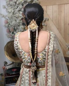hairstyle on gown indian wedding * hairstyle on gown . hairstyle on gown indian . hairstyle on gown western . hairstyle on gown simple . hairstyle on gown indian wedding Hairstyles For Gowns, Indian Wedding Hairstyles, Bride Hairstyles, Updo Hairstyle, Bridal Hair Buns, Bridal Hairdo, Bridal Makeup Looks, Indian Bridal Makeup, New Age