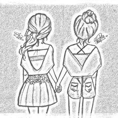 Super cute bff draw like please