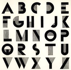 A basic font could be modified to link to the theme of the brief. This could be done with colour, shape, line and tone.