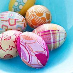 Scrap Happy Eggs  These would be perfect for a quilter with extra bits of fabric laying around.  Image Photo Credit: Family Circle