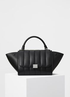 Small Quilted Trapeze Handbag in Lambskin Quilted - Céline