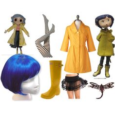 Coraline for Halloween this year? Diy Halloween Costumes, Halloween Christmas, Halloween Cosplay, Halloween Party, Costume Ideas, Halloween Ideas, Halloween 2017, Casual Cosplay, Cosplay Outfits