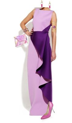 Lilac and Orchid Gown with Drapes Styled By Kieu