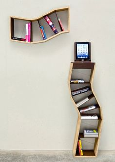 Sara Bergando Segmented Book Shelving