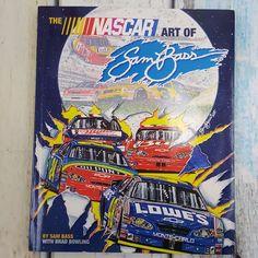 The NASCAR Art of Sam Bass Artist Signed Book : Dale Earnhardt, Jr, Jeff Gordon