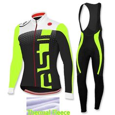 Ropa Ciclismo Invierno Winter Thermal Fleece Pro Cycling Jersey 2017 Maillot Cycling Bike Men Fluorescent Green Cycling Clothing