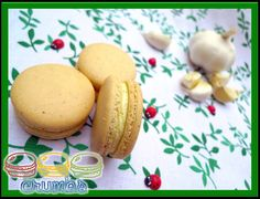 Garlic Cheese Macaron / Macaroon.    Check out more at: http://www.crumbsmacaron.com
