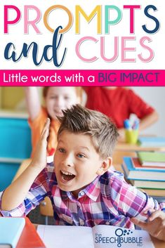 Prompts and Cues. These words are part of the specialized language that we learn as Speech-Language Pathologists.  They are right up there with fluency and aphasia.  #BackToSchool #SLP #SPED #classroom #behavior #teacher #student