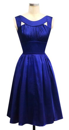 Trashy Diva Orlando Dress in Cobalt Satin Dress Outfits, Dress Up, Cute Outfits, Fashion Outfits, Play Dress, Vintage Dresses, Vintage Outfits, Vintage Fashion, Vintage Style