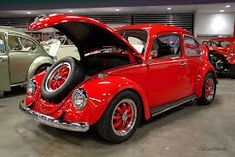 Image result for early vw beetle red