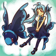 Pokémon: Lumineon and girl