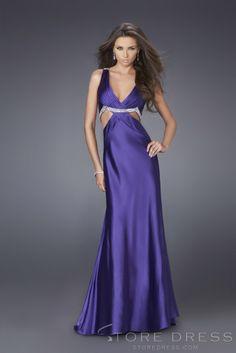 New fashion Sheath / Column V-neck Empire Ruffles Prom Dress at Storedress.com