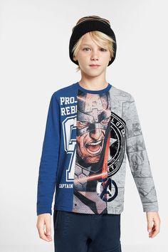 Mode Junior, Marvel Clothes, Superhero Clothes, Jumper Shirt, T Shirt, Captain America Shirt, Marvel Kids, Super Hero Outfits, Kids Fashion Boy