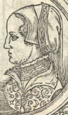 French Hood Images: Detail of Elizabeth Valois Frontispiece - Tudor Research - www.kimiko1.com Elizabeth Valois Frontispiece  Unknown artist  1560