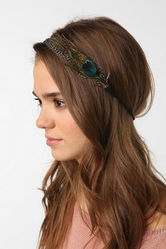 Feather & Suede Headwrap--Online Only--UrbanOutfitters
