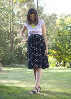 gingham and dots