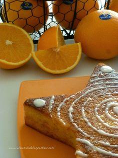 naranja, bizcocho, pastel, cake Sin Gluten, No Bake Desserts, Birthday Cake, Favorite Recipes, Bread, Cheese, Candy, Orange, Baking