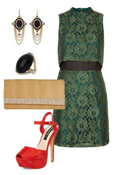 Miss High Street - High Street's Hottest - Lace crop dress