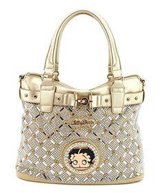 Betty Boop Bb5673 Handbag Mirror Stones Rhinestones New