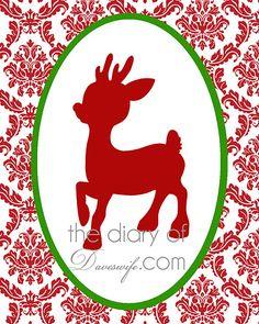 Rudolph Printable @ http://www.thediaryofdaveswife.com/2011/12/free-christmas-printable-3.html