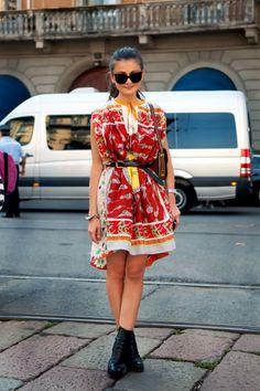 DIY Scarf Dress | scarf dress