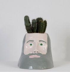 David Shrigley.  cactus planter.