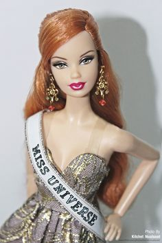 https://flic.kr/p/ehDStq | Miss Universe in Plastic ! | Barbie and Miss Universe sash made by me.  #Barbie Basics Model #003 Doll Collection 1.5: Steffie