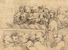 Choir and Orchestra (A Choral Band), 1776, by John Hamilton Mortimer, 1740-1779, British