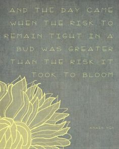 Such a beautiful quote and spring just around the corner!!