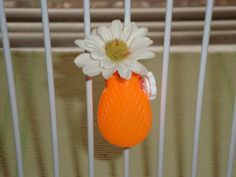 Awww! Aren't you glad I didn't say...banana? Miniature Orange Bicycle Vase $4 from TrulySkrumptious @ Etsy.