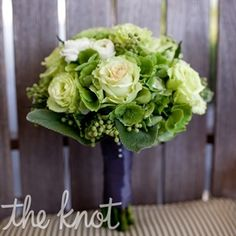 Green Bouquet for bridesmaids