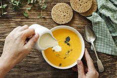 enviromantic Canned soup is . sorry, fell asleep there.Because canned soup is boring. It's the edible equivalent of every Cream Of Tomato, Quorn, Man Food, Egg Noodles, Wooden Background, Fresh Lemon Juice, Garam Masala, Ricotta, Guacamole