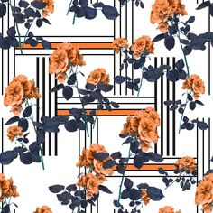 Find Flowers and lines fashion fabric pattern stock illustrations and royalty free photos in HD. Explore millions of stock photos, images, illustrations, and vectors in the Shutterstock creative collection. Textile Pattern Design, Baroque Pattern, Textile Patterns, Pattern Art, Print Patterns, Print Wallpaper, Pattern Wallpaper, Botanical Flowers, Flower Backgrounds