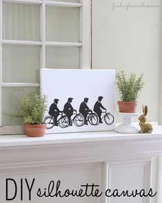 DIY Sharpie Silhouette Canvas Art  via Finding Home