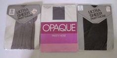 Lot of 3 NEW Vintage Kmart Ultra Sheer, Opaque Size Tall Pantyhose, Stockings #Tights #Pantyhose