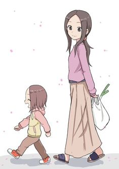 Out for a walk [karakai jouzu no takagi san] Cute Anime Pics, Anime Love, Character Art, Character Design, Anime City, Familia Anime, Anime Family, Anime Art Girl, Kawaii Anime