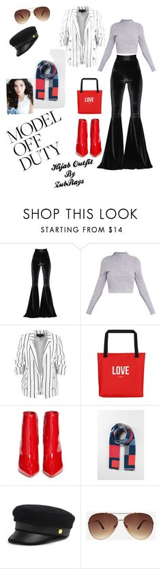 """Off Duty Model Outfit"" by zubrays ❤ liked on Polyvore featuring Faith Connexion, Gianvito Rossi, Henri Bendel and Ashley Stewart"