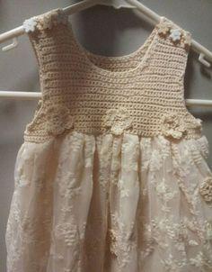 Kumaşla Örgü Kız Çocuk Elbise Modelleri ve Yapılışı 42 - Mimuu.com