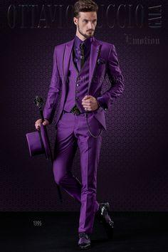 Fashion Purple Men Wedding Tuxedos Peak Lapel One Button Groom Tuxedos Men Wedding/Prom/Dinner/Darty Dress (Jacket Pants Tie Vest) 1799 - WooStyle Black Prom Suits, Purple Suits, Wedding Suit Rental, Wedding Suits, Wedding Tuxedos, Wedding Wear, Groom Tuxedo, Tuxedo For Men, Tuxedo Jacket