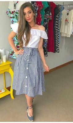 A saia é modesta!