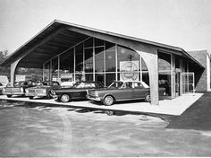 Paul Clark Ford, Brockton MA, 1965 New Facility | Bill Cook | Flickr Retro Cars, Vintage Cars, Vintage Photos, Vintage Auto, Used Car Lots, Volkswagen, New Car Smell, Ford Ltd, Old Gas Stations
